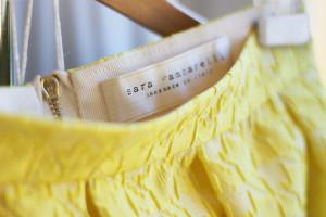 yellow, moda, pepitosa, skirt, made in italy