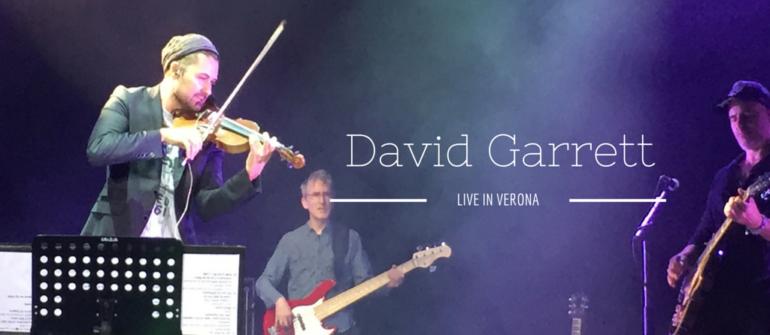 David Garrett: il violinista rock strega Verona