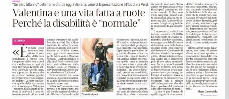 """Valentina e una vita fatta a ruote perché la disabilità è """"normale"""""""
